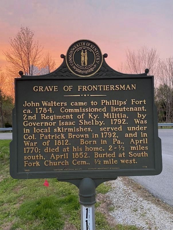 Grave of Frontiersman side of the marker image. Click for full size.