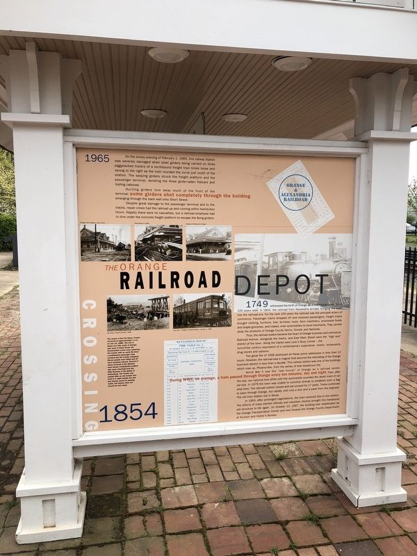 The Orange Railroad Depot Marker image. Click for full size.