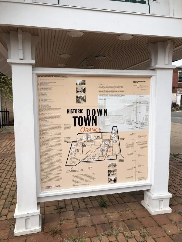 Historic Downtown Orange Marker image. Click for full size.