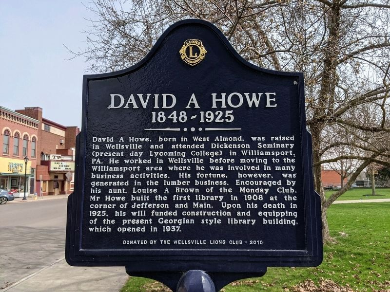 David A Howe Marker image. Click for full size.