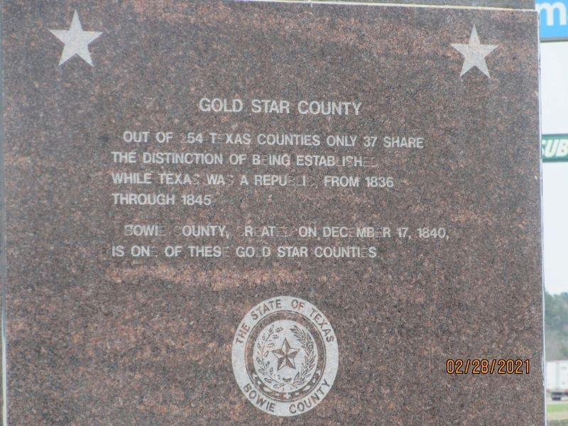 Gold Star County Marker image. Click for full size.