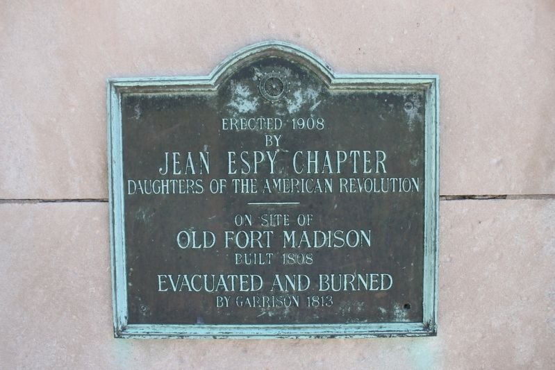 Old Fort Madison Marker image. Click for full size.
