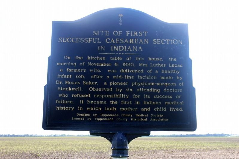 Site Of First Successful Caesarean In Indiana Marker image. Click for full size.