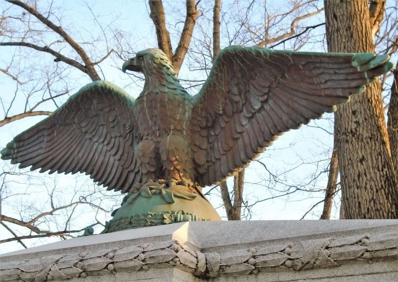 War Memorial Eagle image. Click for full size.