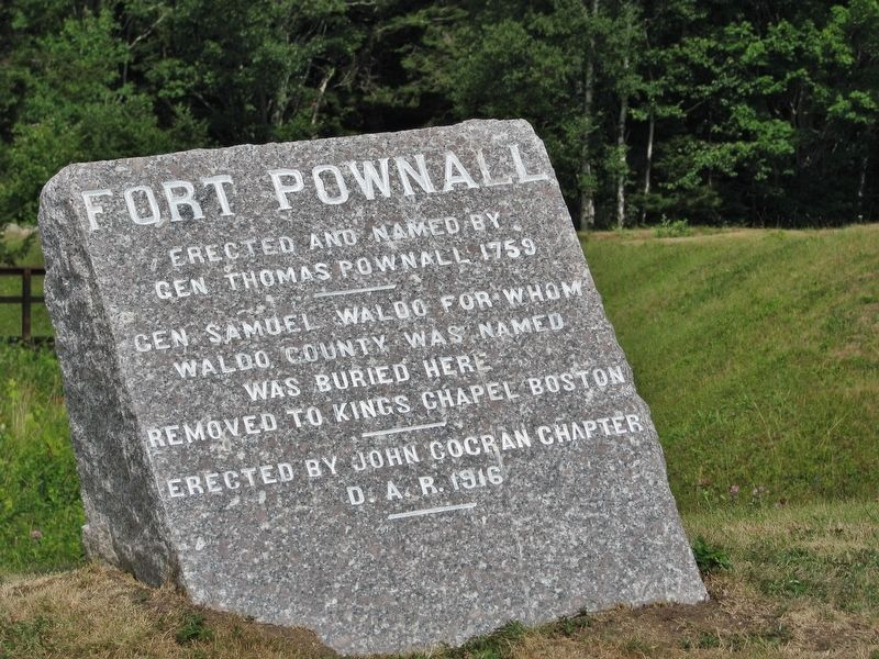 Fort Pownall Marker image. Click for full size.
