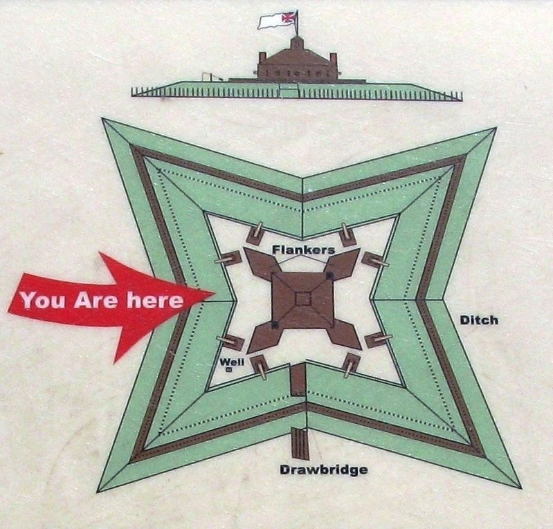Marker detail: Fort Pownall Diagram image. Click for full size.