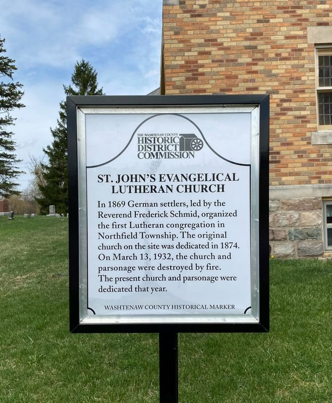 St. John's Evangelical Lutheran Church Marker image. Click for full size.