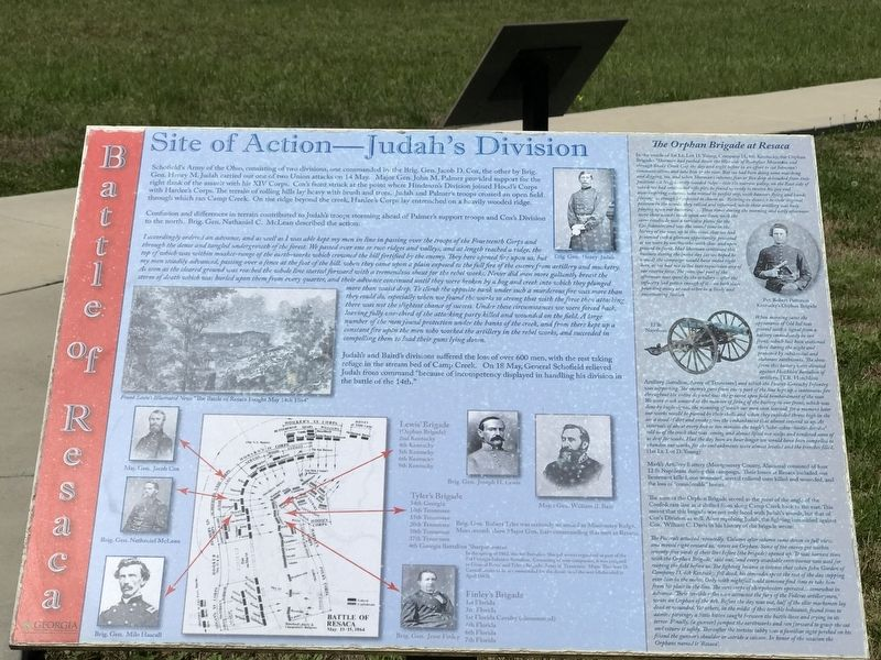 Site of Action — Judah's Division Marker image. Click for full size.