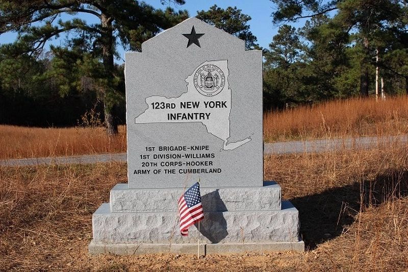 123rd New York Infantry Marker image. Click for full size.