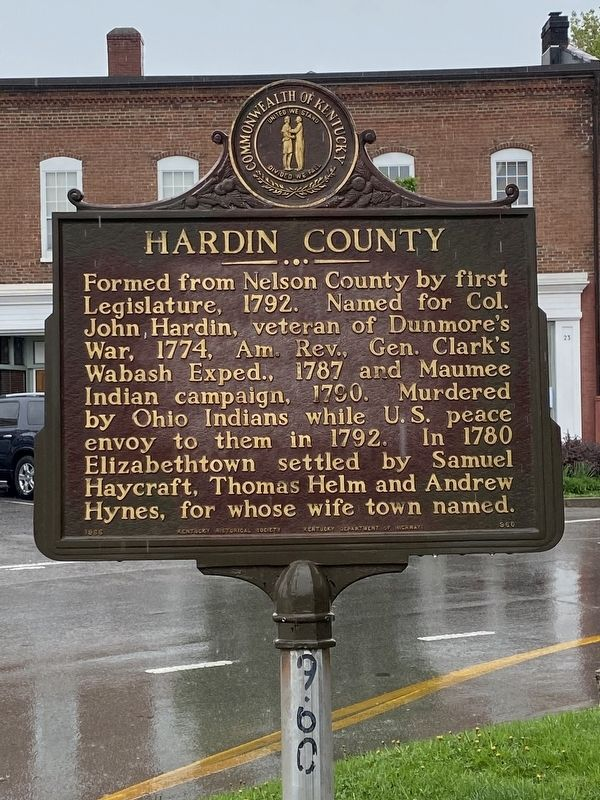 Hardin County Marker image. Click for full size.