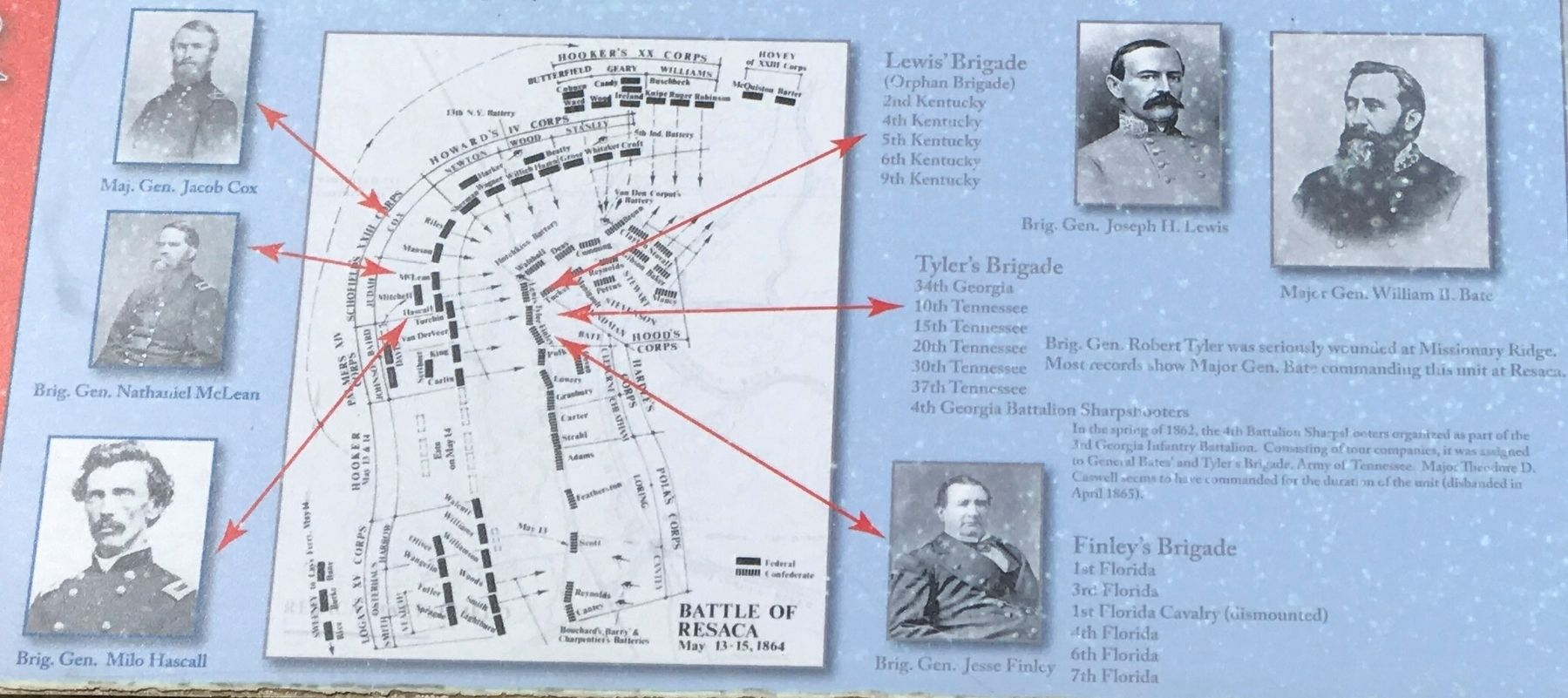 Site of Action — Judah's Division Marker Detail image. Click for full size.