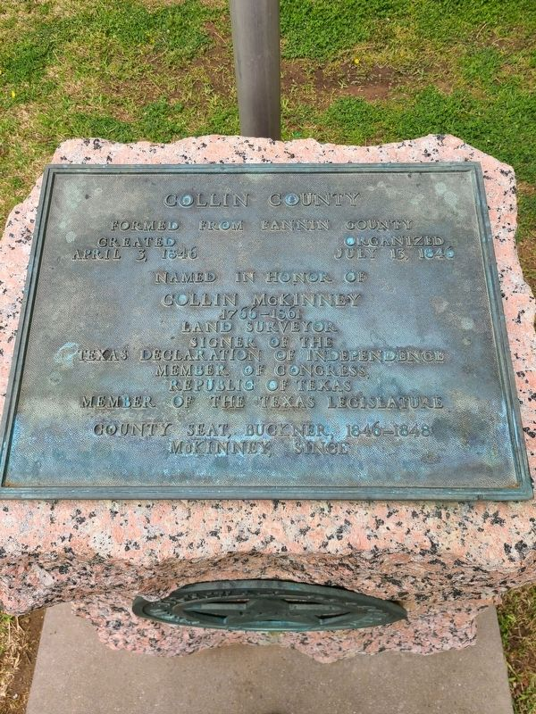 Collin County Marker image. Click for full size.