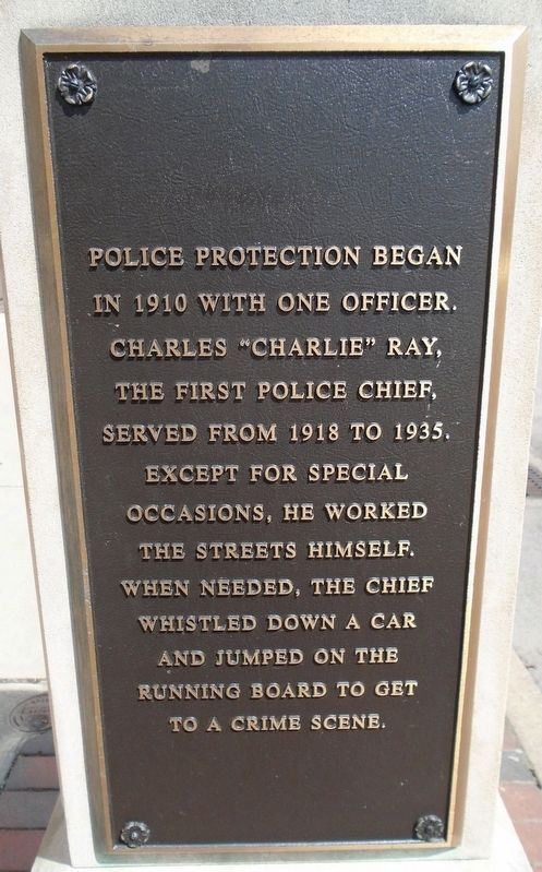 "Police Chief Charles ""Charlie"" Ray Marker image. Click for full size."