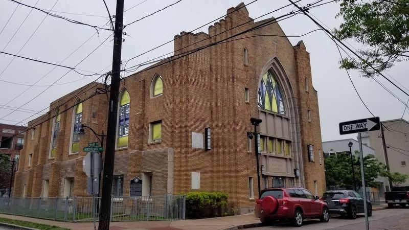 The view of the Bethel Baptist Church from the street image. Click for full size.