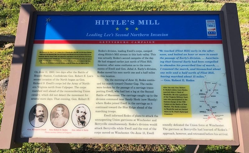 Hittle's Mill Marker image. Click for full size.