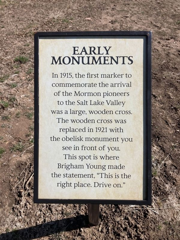 Early Monuments Marker image. Click for full size.