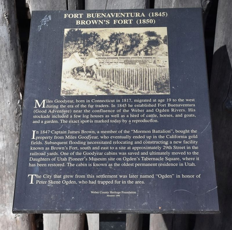 Fort Buenaventura Marker image. Click for full size.