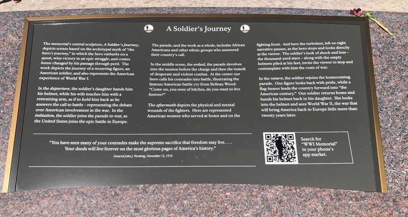 A Soldier's Journey Marker image. Click for full size.