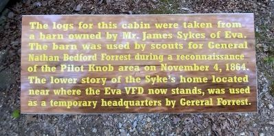 Cabin Logs Marker image. Click for full size.