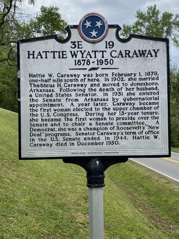 Hattie Wyatt Caraway Marker image. Click for full size.