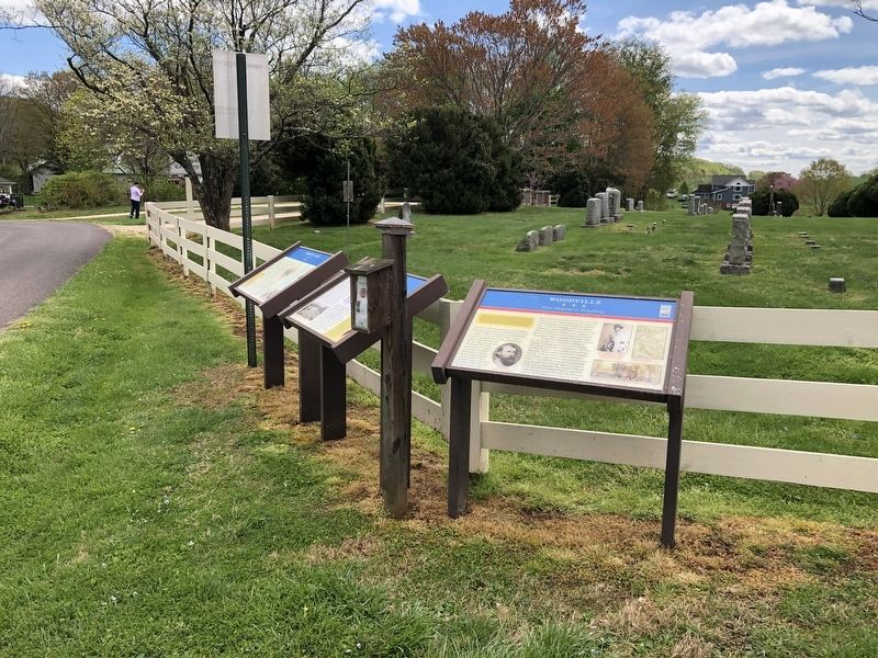 Virginia Civil War Trails markers on display image. Click for full size.