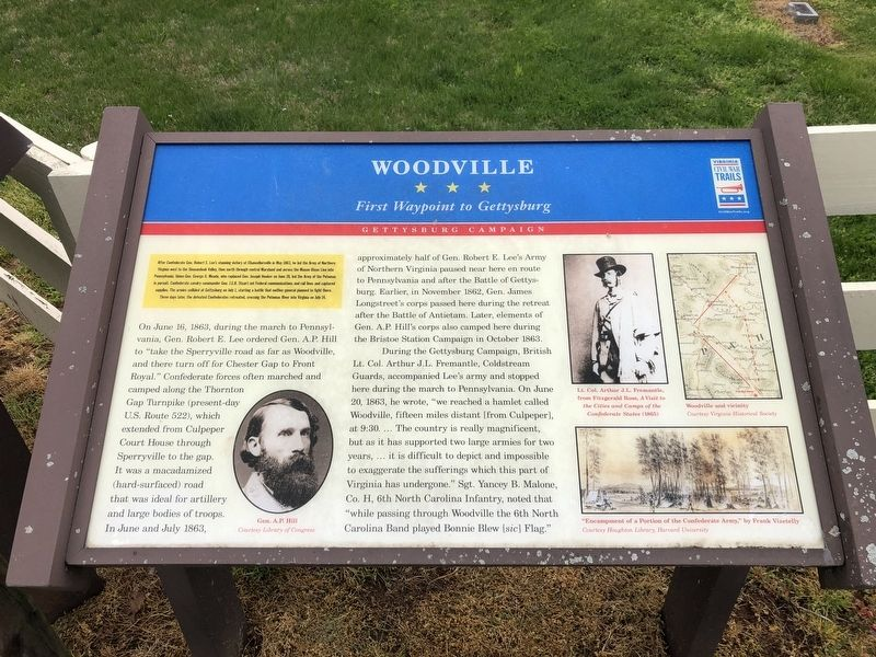 Woodville Marker image. Click for full size.