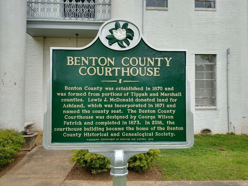Benton County Courthouse Marker image. Click for full size.