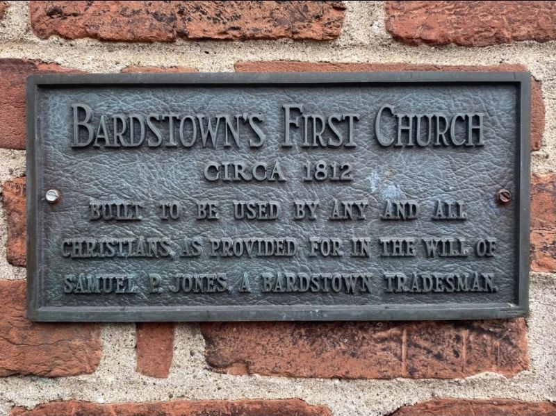 Bardstown's First Church Marker image. Click for full size.