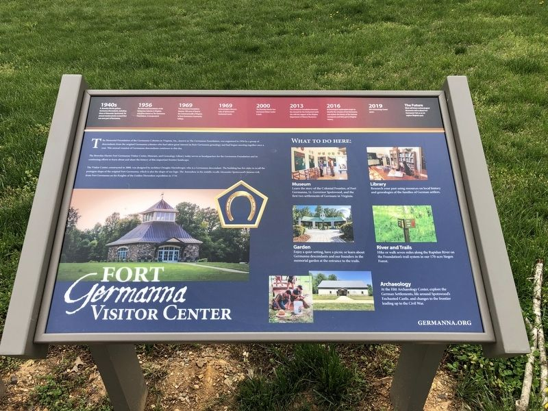 Fort Germanna Visitor Center Marker image. Click for full size.
