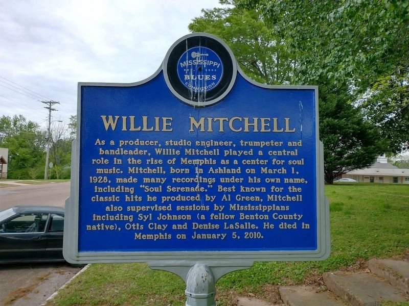 Willie Mitchell Marker (Side 1) image. Click for full size.