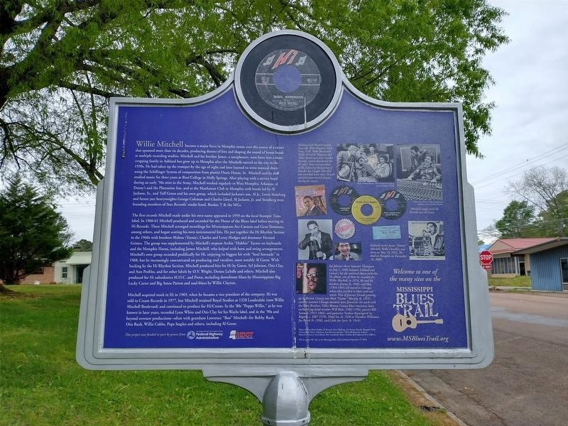 Willie Mitchell Marker (Side 2) image. Click for full size.