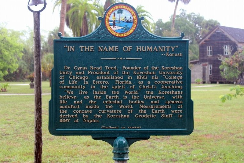 """In the Name of Humanity""--Koresh Marker Side 1 image. Click for full size."