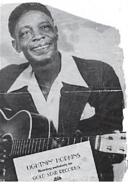 Sam (Lightnin') Hopkins image. Click for full size.