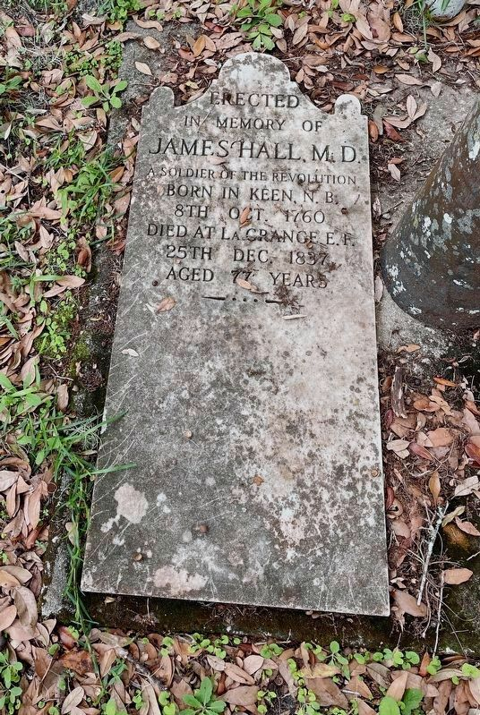 James Hall Gravestone image. Click for full size.
