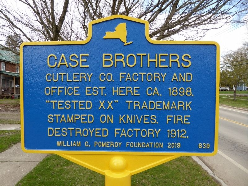 Case Brothers Cutlery Co. Marker image. Click for full size.