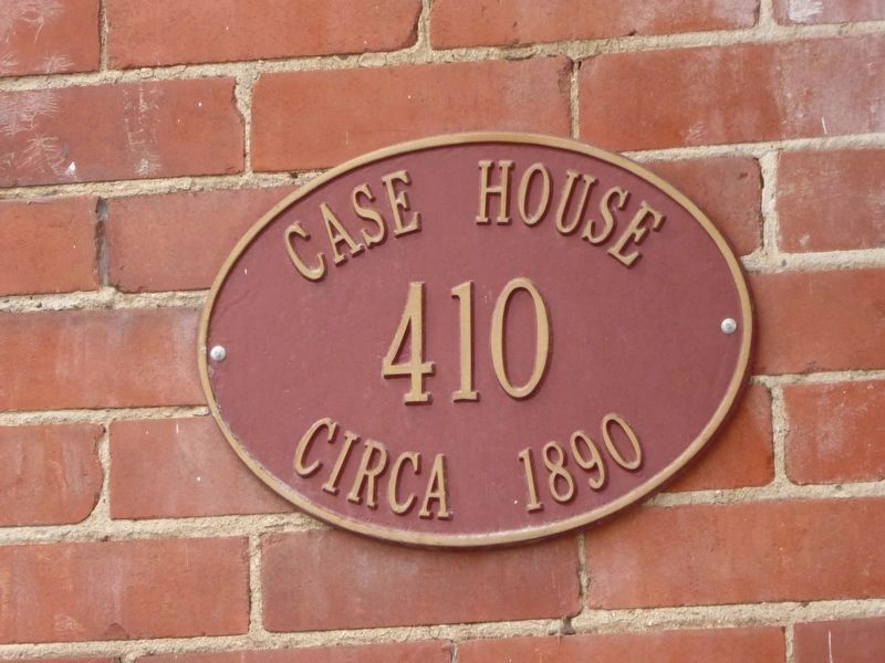 Plaque on the Case Brothers House image. Click for full size.