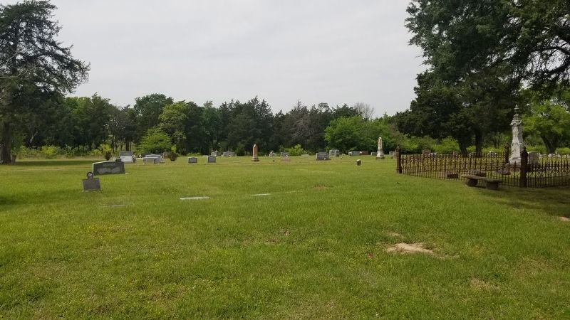 The view of the William Rufus Boyd, Jr. Marker in the cemetery image. Click for full size.