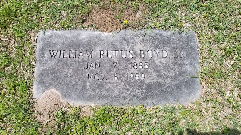 William Rufus Boyd, Jr. gravestone image. Click for full size.