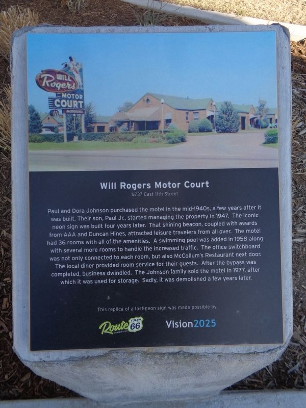 Will Rogers Motor Court Marker image. Click for full size.