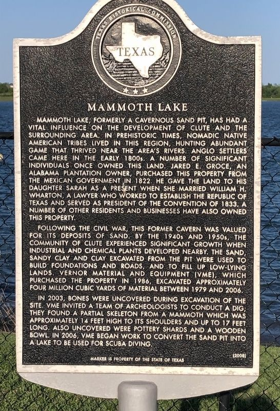 Mammoth Lake Marker image. Click for full size.