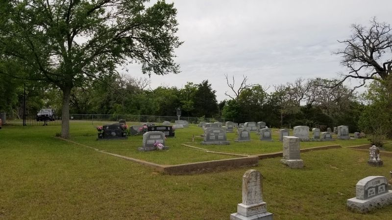 The view of the Hattie Barnes Adkisson Marker from the cemetery image. Click for full size.