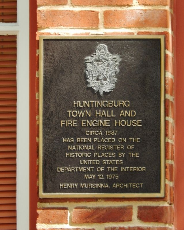 Huntingburg Town Hall and Fire Engine House Marker image. Click for full size.
