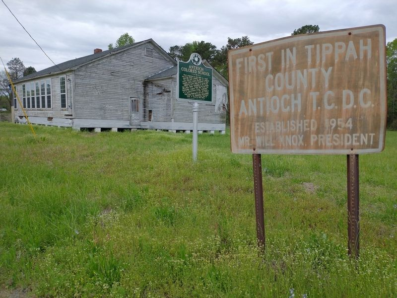 Antioch Colored School Marker image. Click for full size.