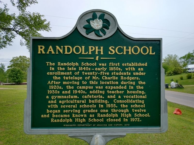 Randolph School Marker image. Click for full size.