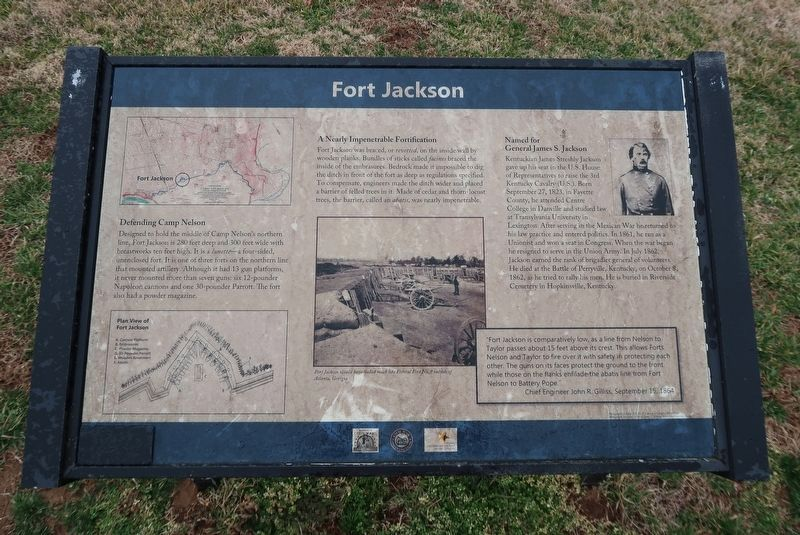 Fort Jackson Marker image. Click for full size.