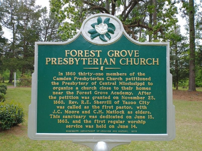 Forest Grove Presbyterian Church Marker image. Click for full size.