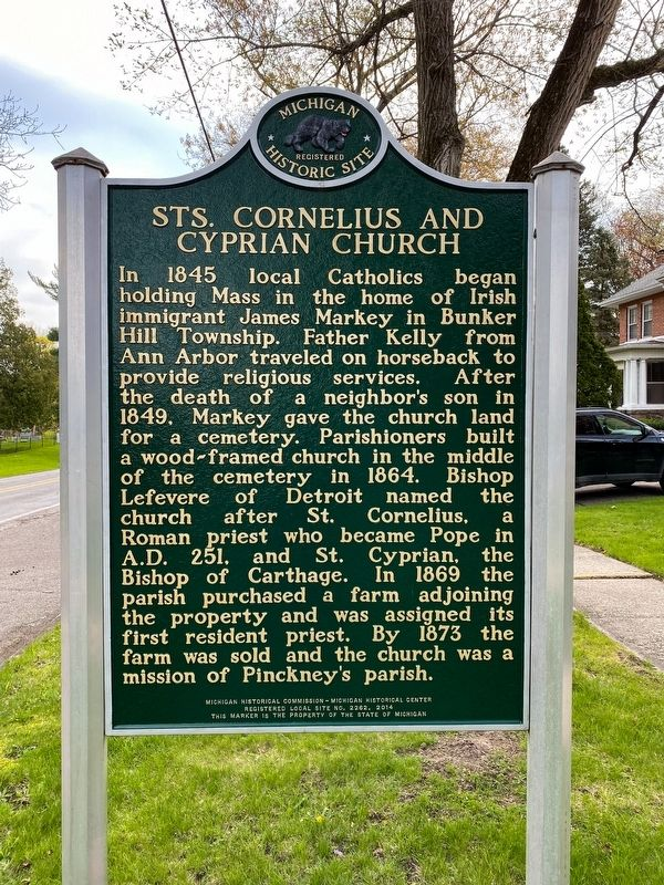 Sts. Cornelius and Cyprian Church Marker image. Click for full size.