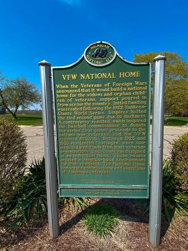 VFW National Home Marker image. Click for full size.