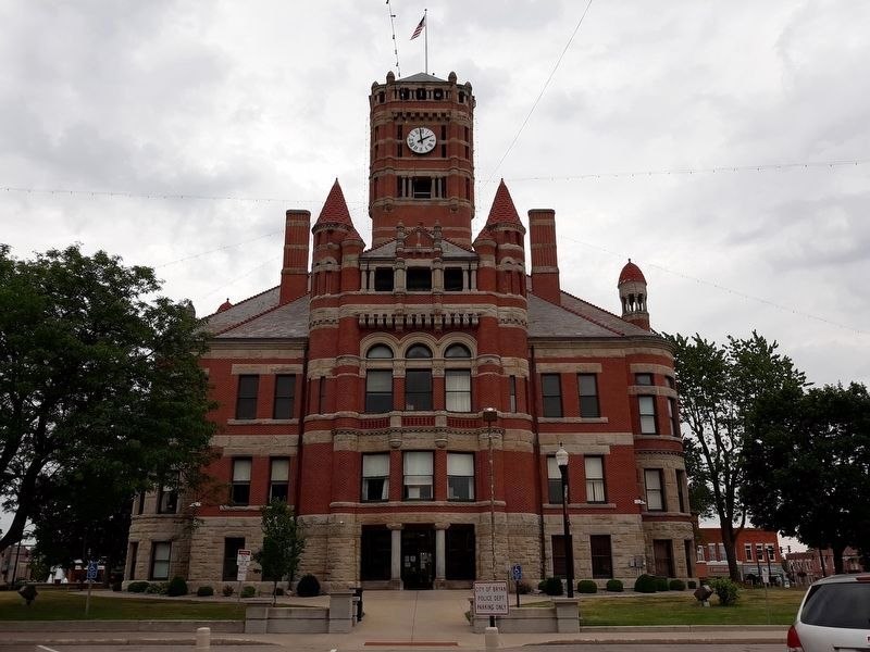 Williams County Courthouse and Markers image. Click for full size.