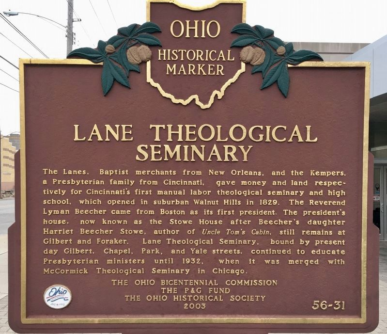Lane Theological Seminary Marker image. Click for full size.